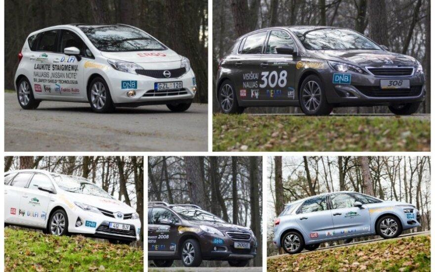 Ekonomiškiausi Metų automobilis 2014 dalyviai