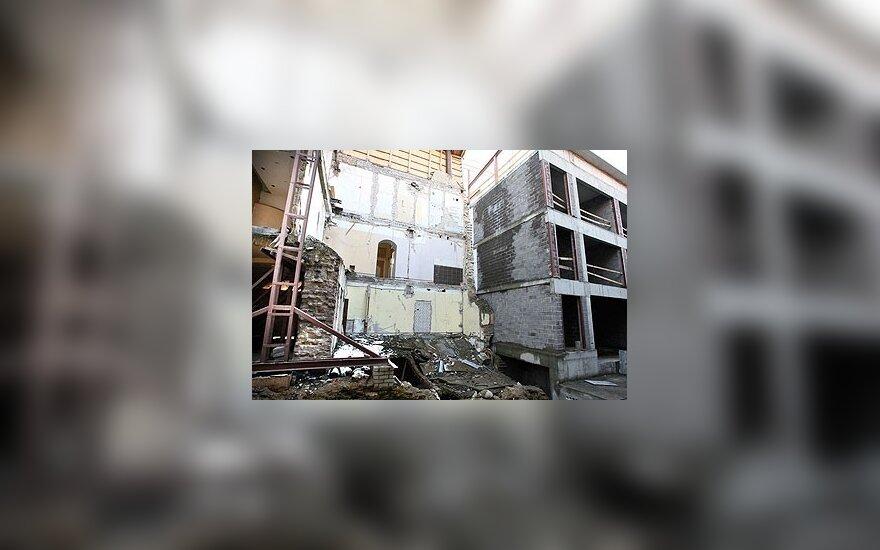 Vilniaus Šiaulių g. nugriuvusi namo dalis bus atstatyta iki gruodžio