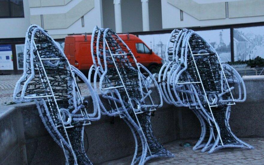 Klaipėdos eglės papuošimais džiaugiasi žvejai
