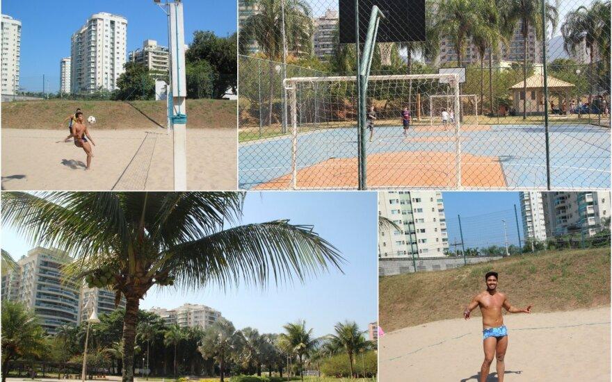 Rio de Žaneiro parkuose sporto aikštynai nebūna tušti