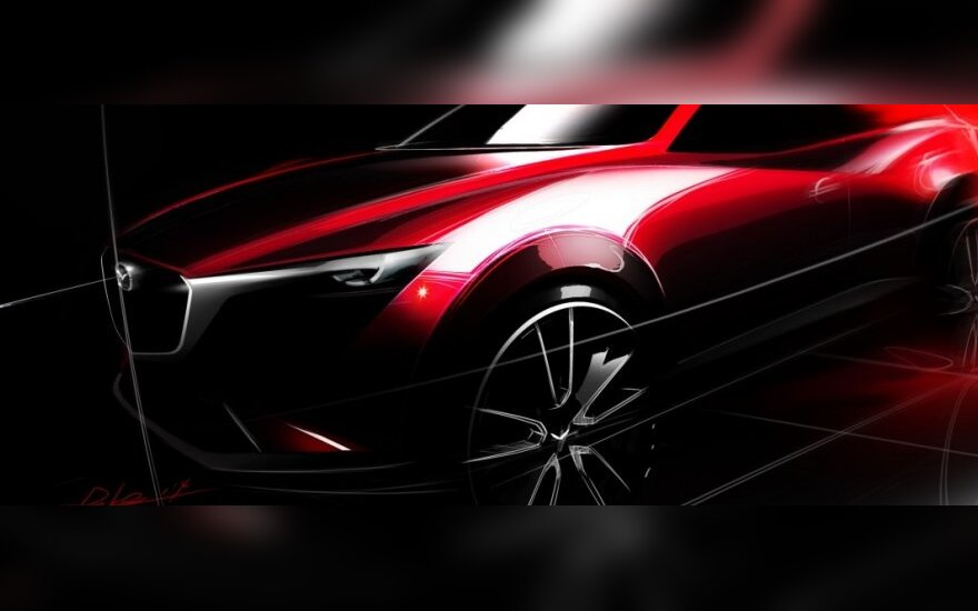 Mazda CX-3 dizaino eskizas