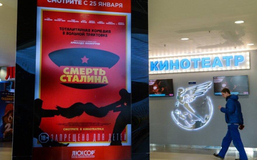 """Rusijos teismas nubaudė """"Stalino mirtį"""" parodžiusį Maskvos kino teatrą"""
