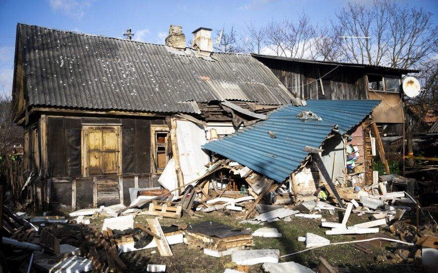 Vilniuje sprogo namas, sužaloti žmonės