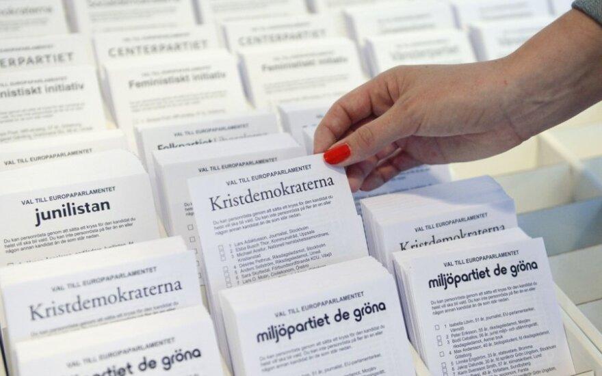 Į EP žengia Švedijos nacionalistai ir feministės
