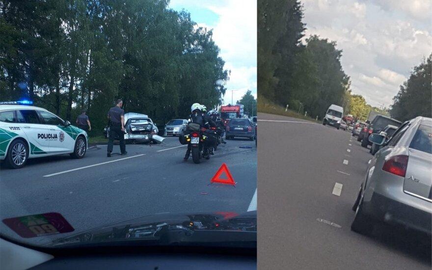 Per masinę avariją Vilniuje nukentėjo nėščia moteris ir paauglė