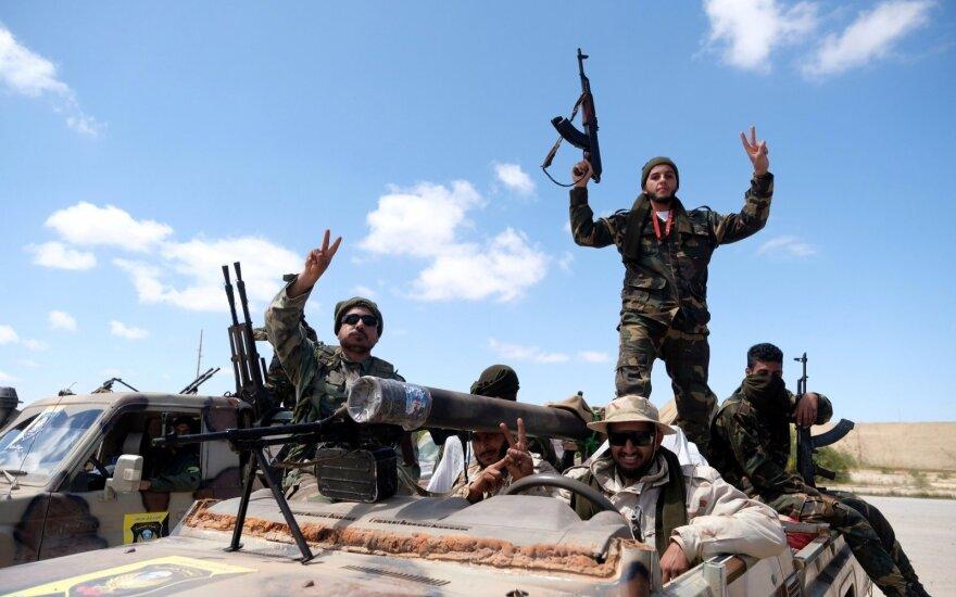 Libijos kovotojų pajėgų vado Khalifos Haftaro pajėgos