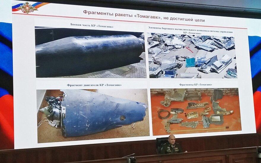 Maskva tikina gavusi per smūgį Sirijai panaudotų Vakarų raketų nuolaužas