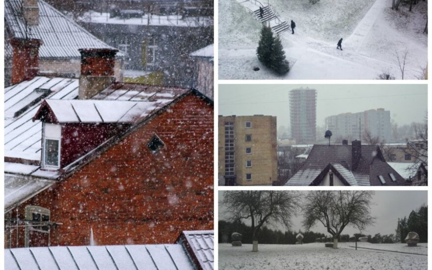 Lietuvą buvo apklojęs sniegas