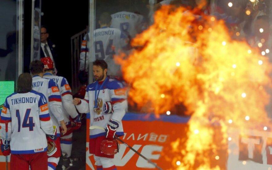Rusijos ledo ritulio rinktinė sulaukė atpildo už gėdingą poelgį – skirta solidi bauda