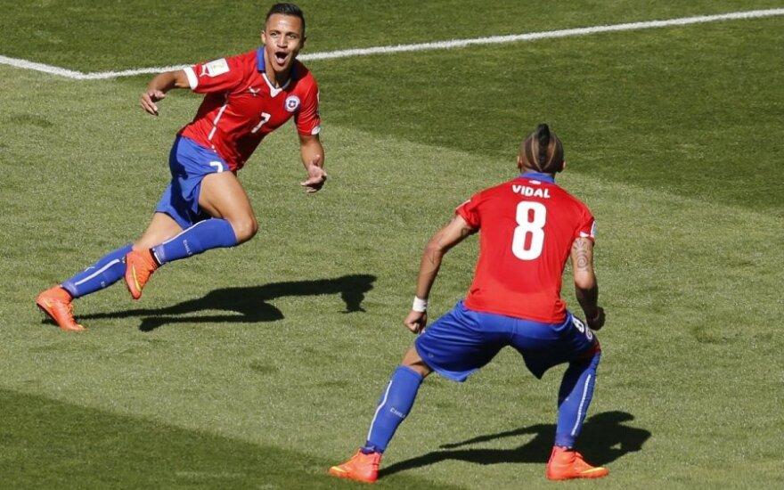 Alexis Sanchezas ir Arturo Vidalis