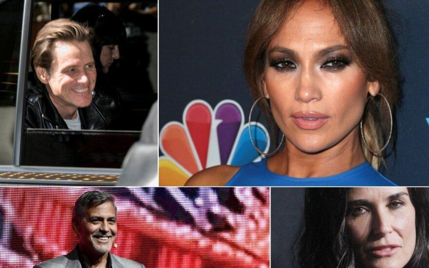 Jim Carrey,Jennifer Lopez, George Clooney, Demi Moore