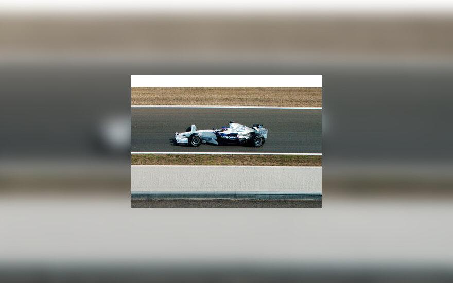 Jacques Villeneuve su BMW Sauber