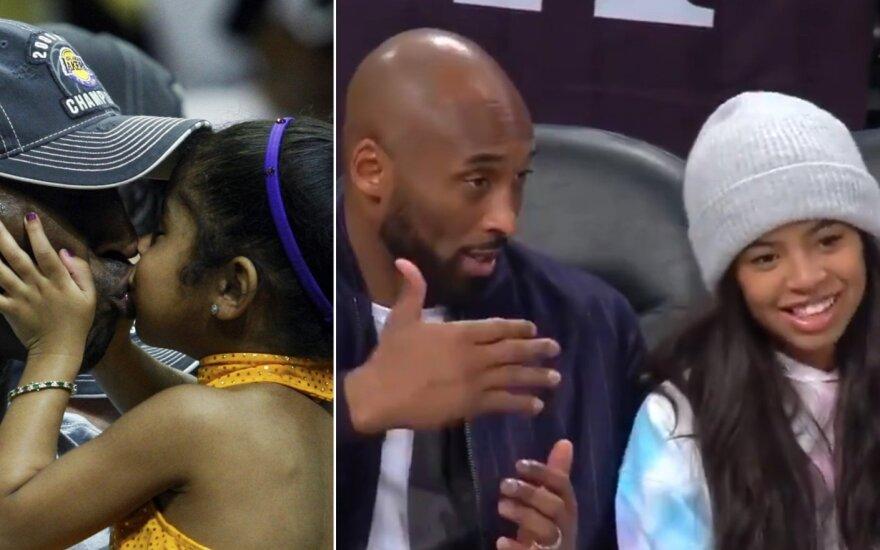 Kobe Bryantas ir jo dukra Gianna (Scanpix ir Twitter nuotr.)