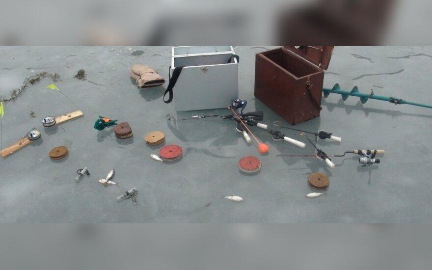 Iš žvejų konfiskuoti įrankiai