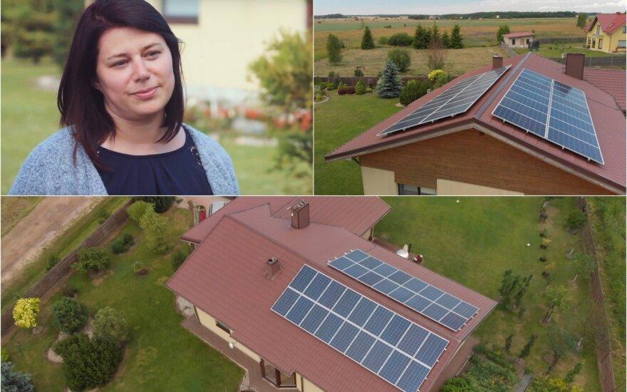 E. Bružinskienės saulės jėgainė