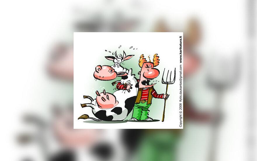 Pienas, pienininkai, ūkininkai, žemdirbiai