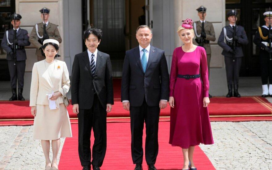 Japonijos kronprincas Akishinas pradėjo vizitą Lenkijoje