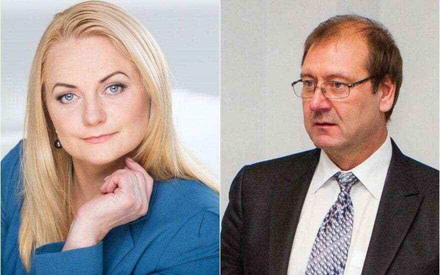 Anžela Šakinienė ir Viktoras Uspaskichas