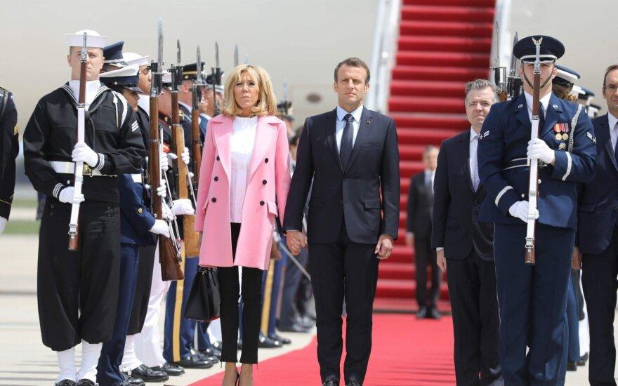 Į JAV valstybinio vizito atvyko Macronas