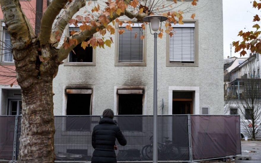 Šveicarijoje per gaisrą daugiabutyje žuvo šeši žmonės
