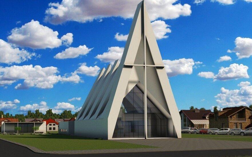 Šv. Jono Pauliaus II bažnyčios vizualizacija