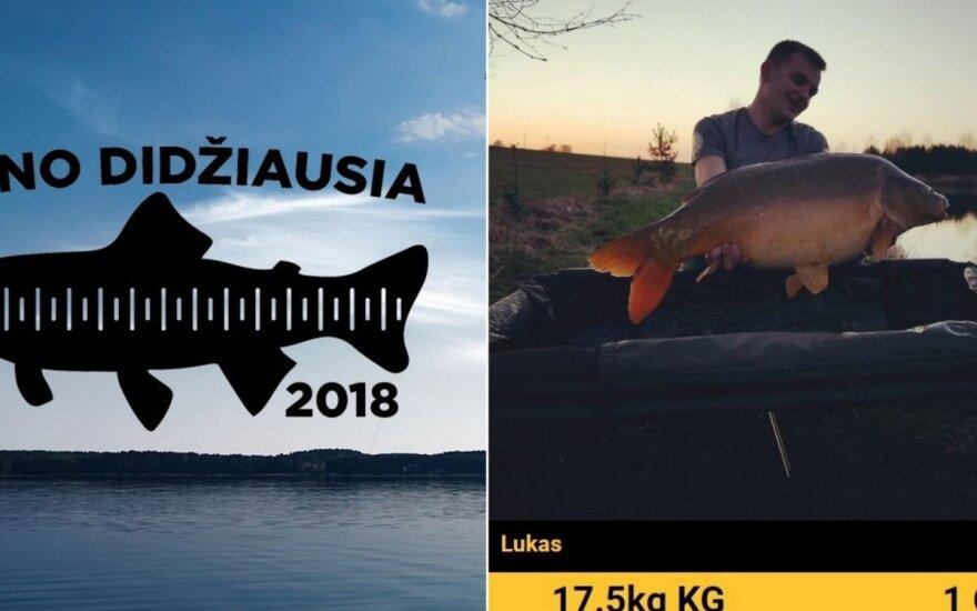 """Konkurso """"Mano didžiausia žuvis"""" dalyvio laimikis"""