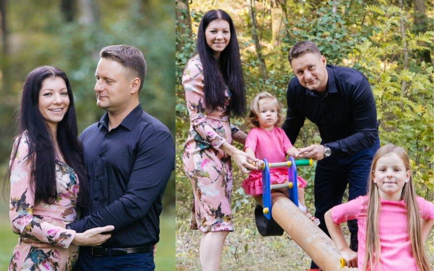 Andriu Rimiškis su šeima