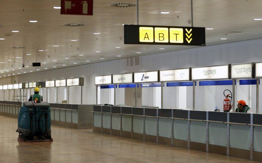 Briuselio oro uostas vėl atidaro išvykimo salę