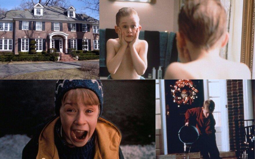 """Filmo """"Vienas namuose"""" scena"""