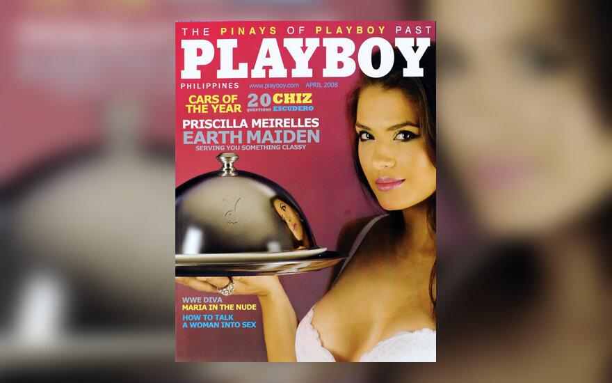 """Brazilų modelis Priscilla Meirelles ant pirmojo Filipinuose pradėto leisti """"Playboy"""" žurnalo viršelio"""