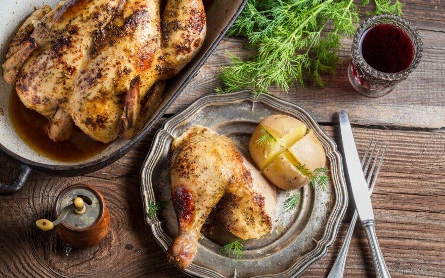 Prancūziškai keptas viščiukas