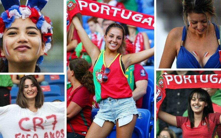 Euro 2016 finalas: kas iš tikrųjų žais namuose ir kieno sirgalės – karštesnės?