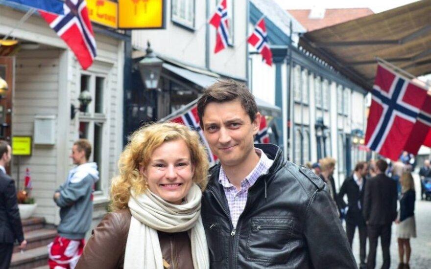 Giedrius Skara su žmona
