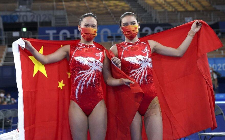 Šuolių nuo tramplino moterų varžybose dominavo kinės