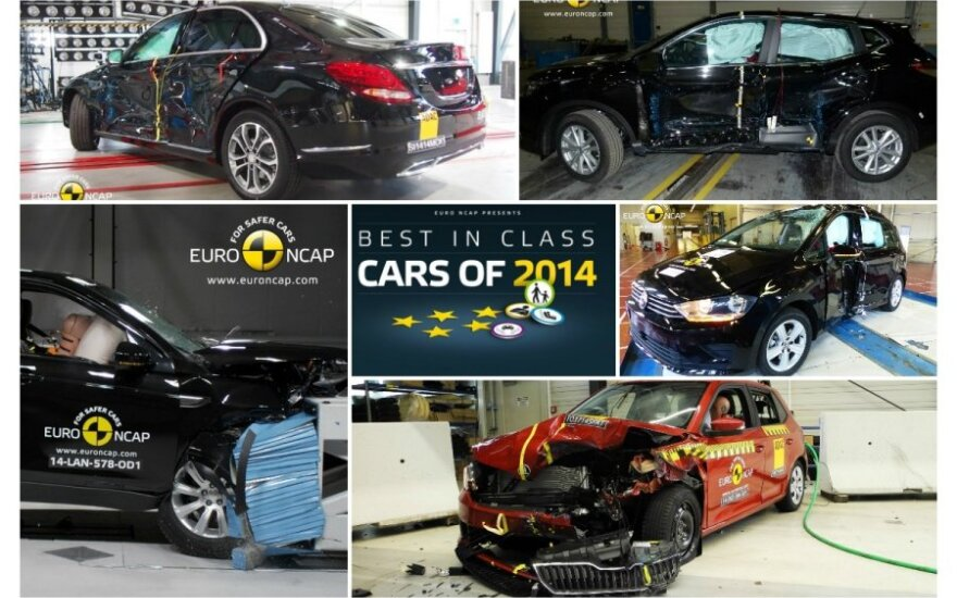 Euro NCAP testai: saugiausi 2014 m. automobiliai