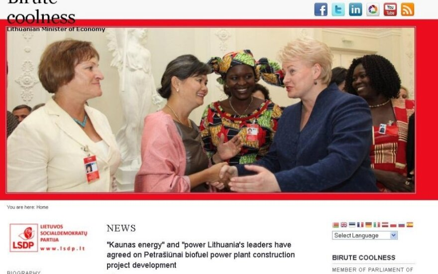 Ūkio ministrė internete prisistato Birute Šauniąja - Svalka