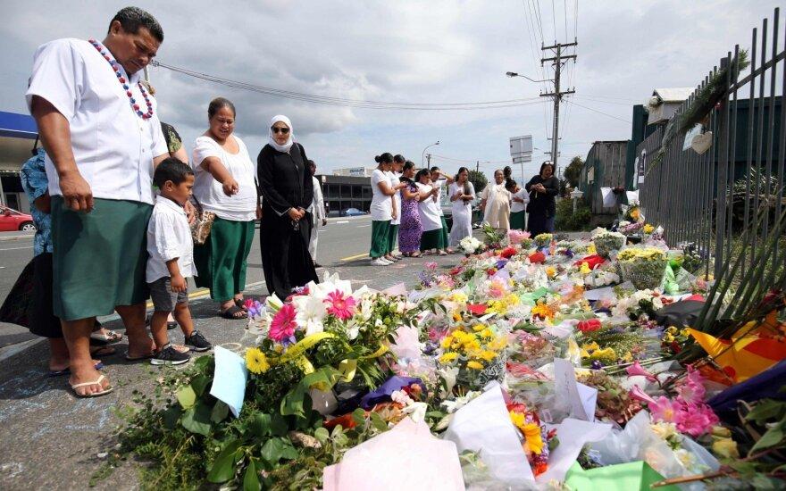 Teroro išpuolio aukų pagerbimas Naujojoje Zelandijoje