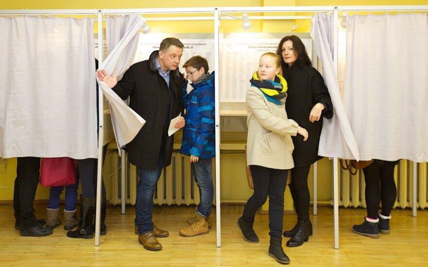 Eligijus Mariulis voting in municipal elections
