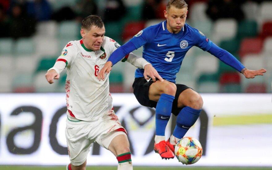 Euro 2020, Baltarusija - Estija, Sergejus Politevičius ir estas Erik Sorga