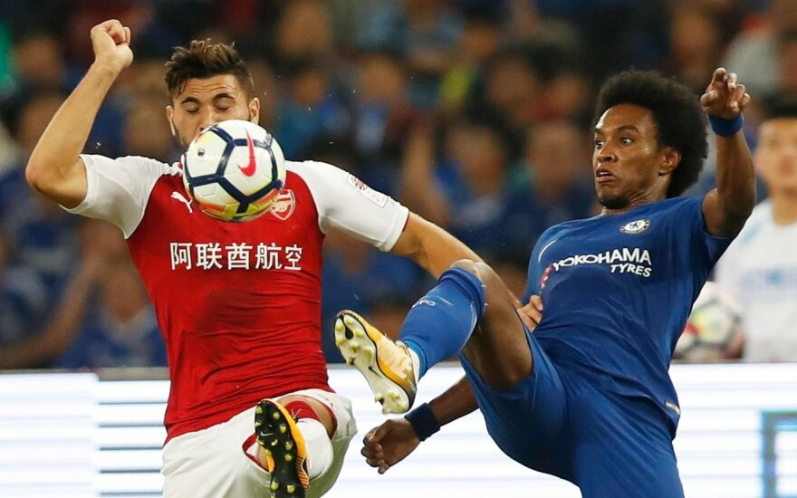 """Chelsea"" – ""Arsenal"" dvikovoa Kinijoje"