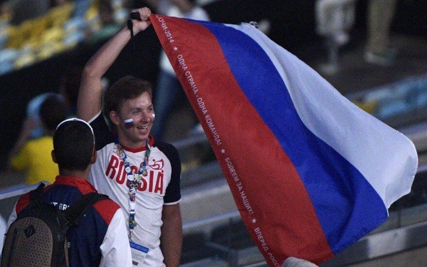 """Rusai – patenkinti: pilnas """"Maracana"""" stadionas nenušvilpė Rusijos olimpiečių ir jų vėliavos"""