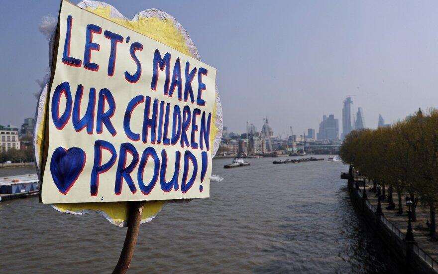 Klimato kaitos protestas Londone