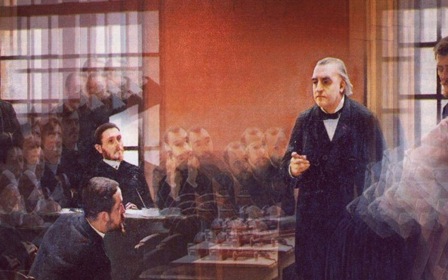 André Brouillet paveiksle pavaizduotas prancūzų neurologas Jeanas-Martinas Charcot, Paryžiaus Pitié-Salpêtrière ligoninėje atliekantis hipnozę