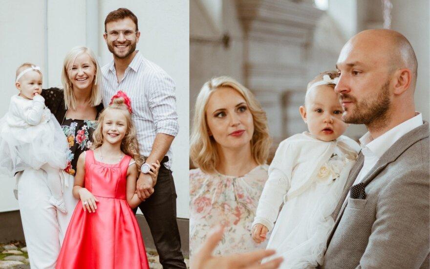 Donatas ir Dainė Baumilos pakrikštijo dukrelę