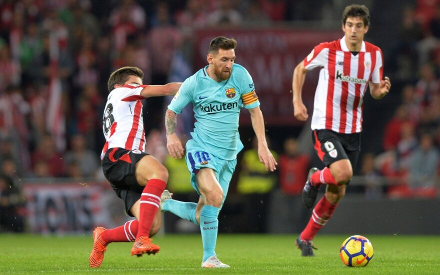 "Bilbao ""Athletic"" - ""Barcelona"" rungtynių akimirkos"