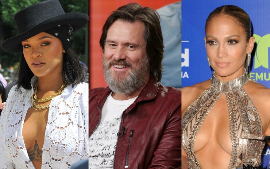 Rihanna, Jimas Carrey, Jennifer Lopez
