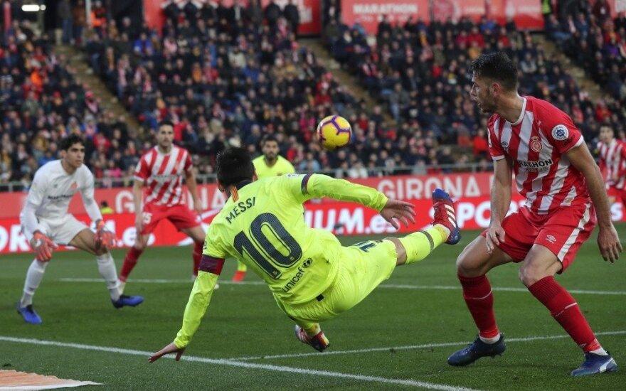 """Messi vėl pelnė įvartį – """"Barca"""" išlaikė atotrūkį, taškų nebarstė ir """"Real"""""""
