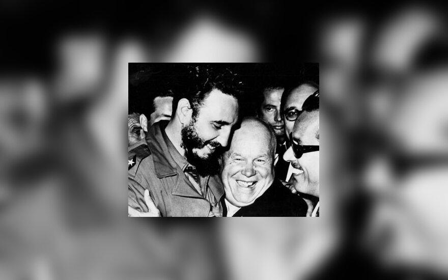 Fidelis Castro ir Nikita Chruščiovas Jungtinių Tautų Generalinėje Asamblėjoje 1960 metais