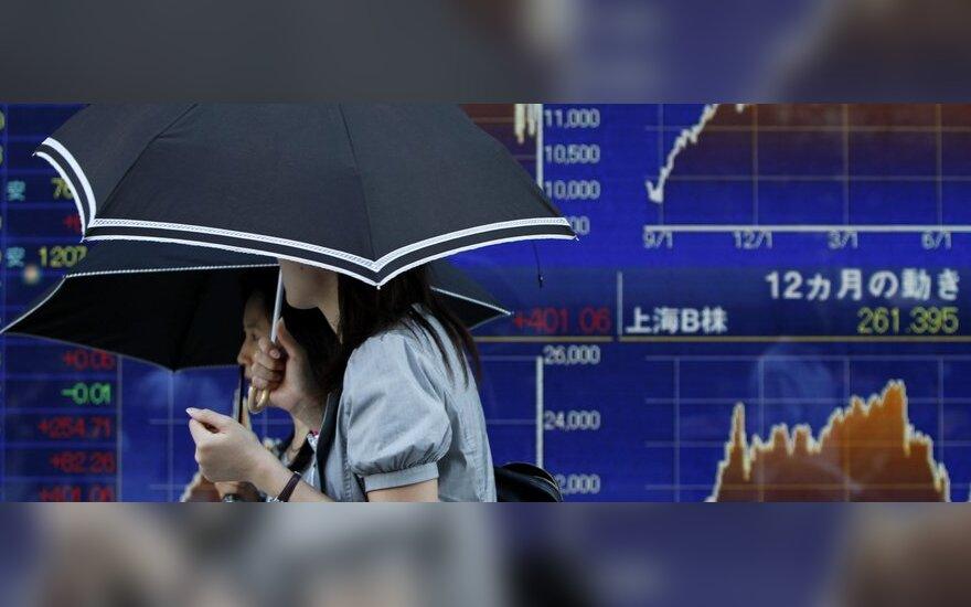 Silpna JAV statistika smukdo Azijos akcijų rinkas