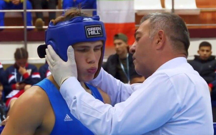 Lietuvos boksininkas Trofimčiukas užsitikrino Europos jaunių čempionato medalį